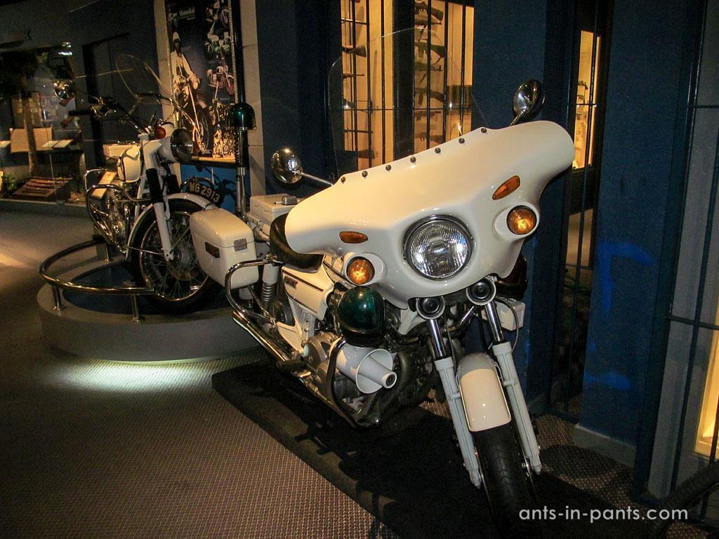 Malaysian police bike