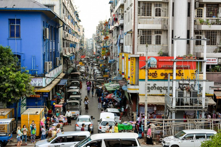 Myanmar. Jangon streets