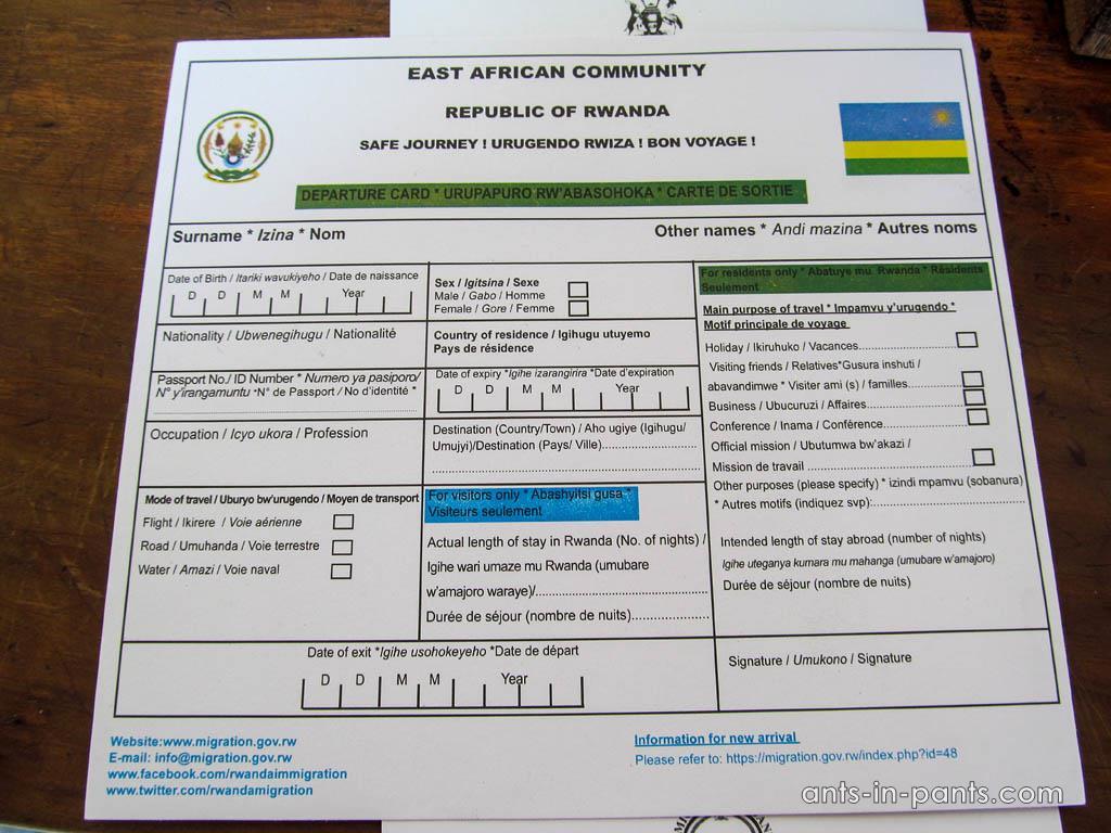 Руанда. Въезд и офориление документов