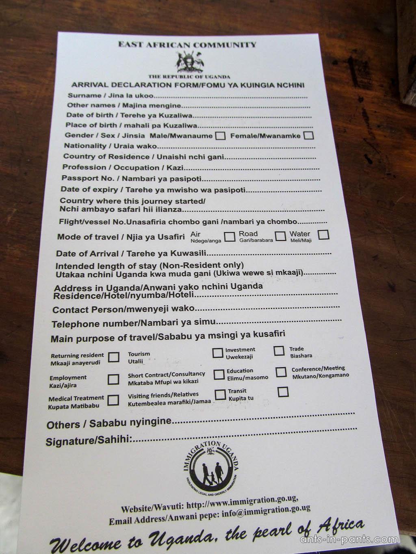 Rwanda-Uganda-Border-Arrival declaration form