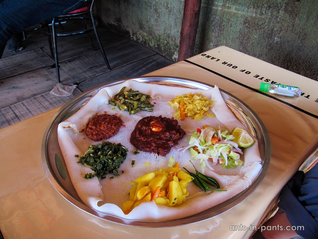 Ethiopian food in Kampala