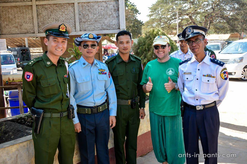Police in Myanmar