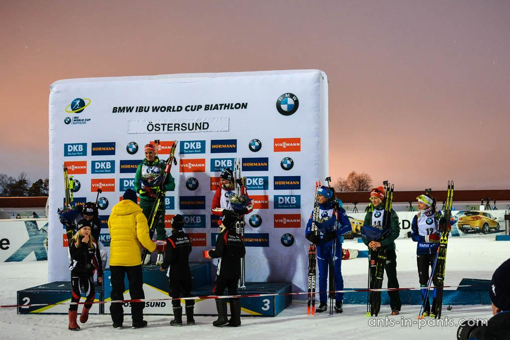 Biathlon Ostersund podium