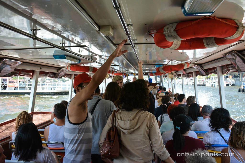 public boat transport of Bangkok