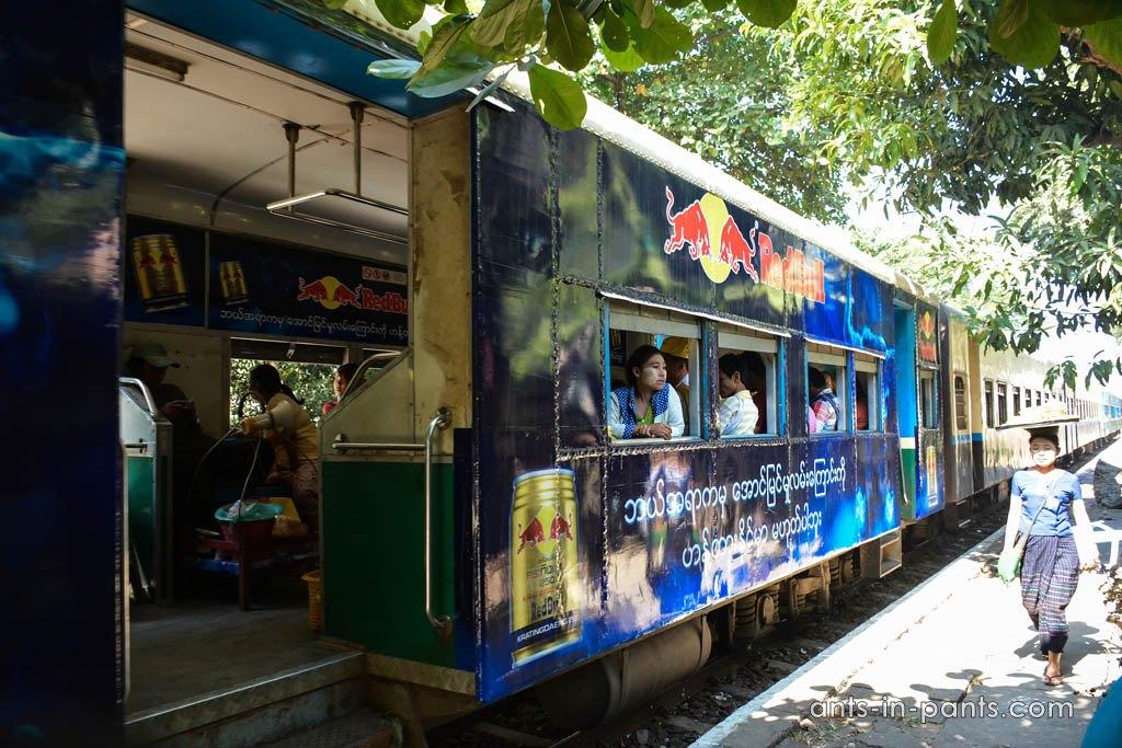 Trains in Myanmar