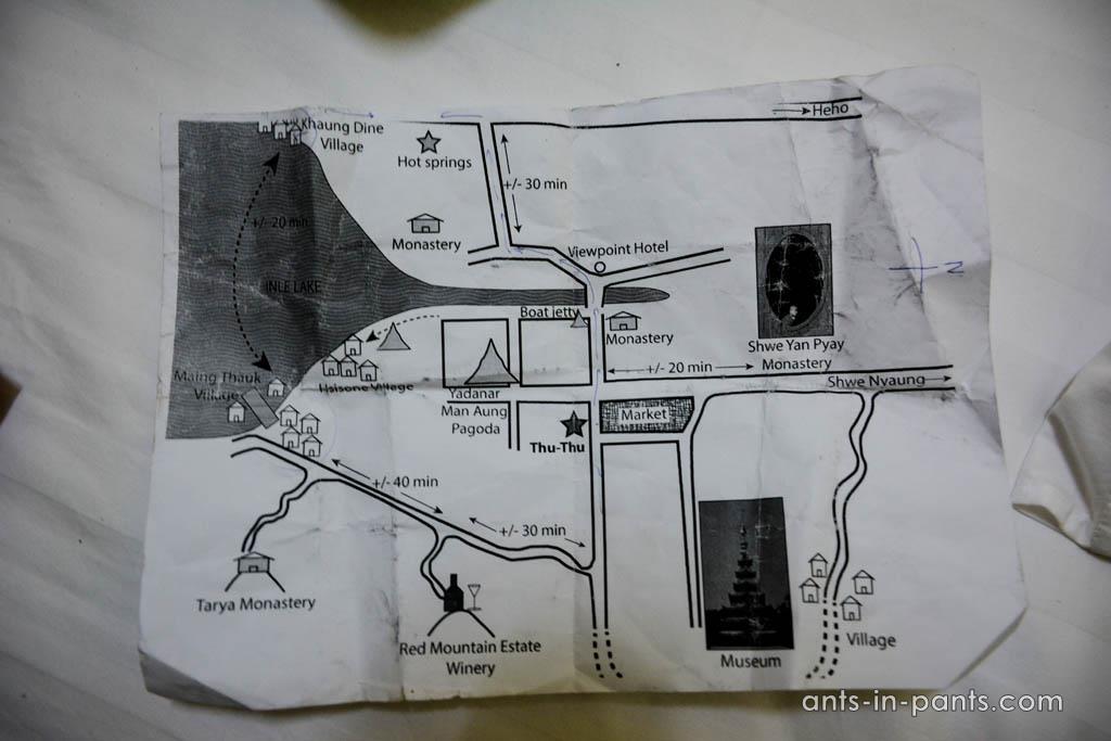 маршрут вокруг озера