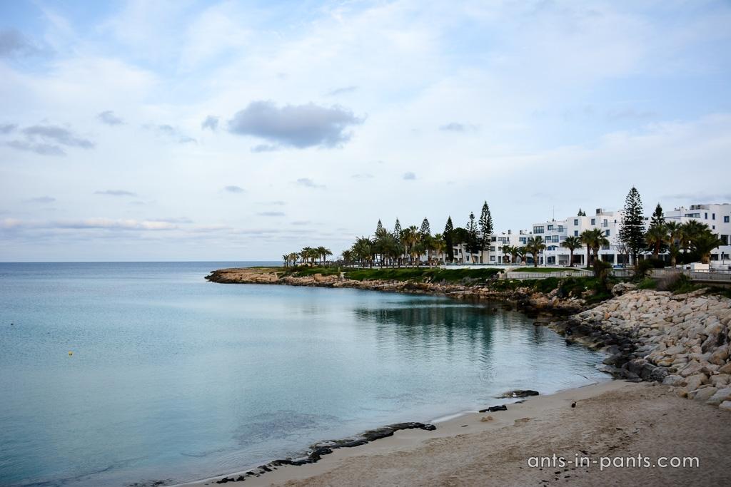 Paralimni beach promenade