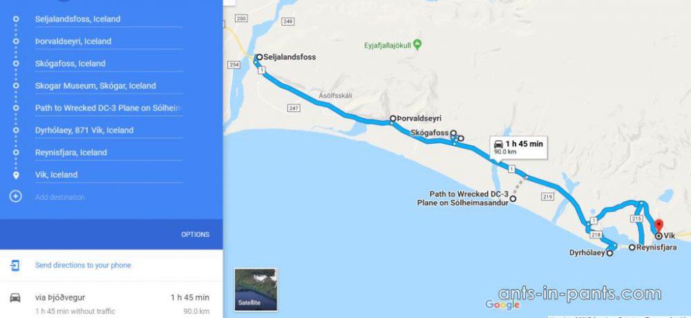 маршрут по югу Исландии