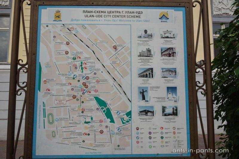 карта центра Улануде