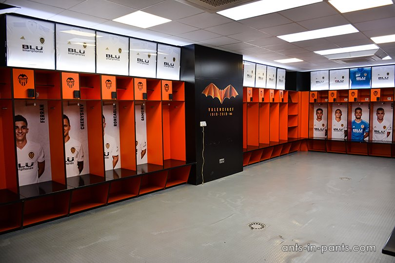 Mestalla dressing room